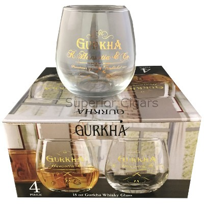 Gurkha, Whiskey Glass, 15 oz., Set of 4